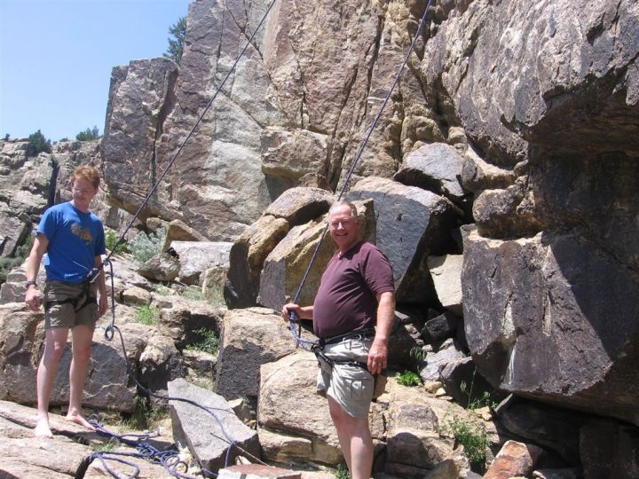 My Dad the rock climber